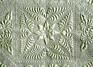Heirloom quilting detail